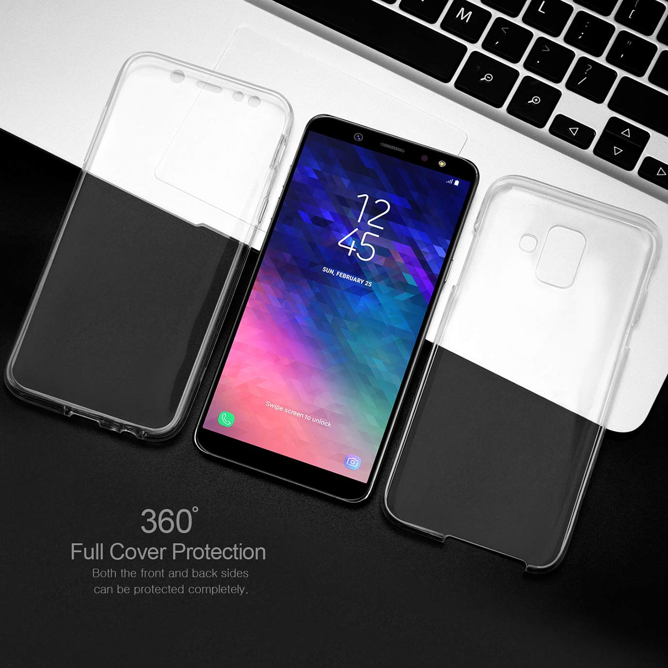 360 Degree Case For Samsung Galaxy S10 Plus S10 E A6 A7 A8 Plus 2018 A750 S8 S9 J4 J6 Note 8 9 Soft Clear Full Body Cover
