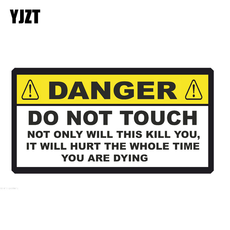 YJZT 14.5CM*7.5CM DANGER Funny NOT ONLY WILL THIS KILL YOU Decorate Car Sticker Decal PVC 12-0919