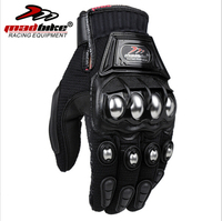 MADBIKE Stainless Steel Motorcycle Gloves Black Blue Motocross Gloves Motorbike Protective MAD-10C Luvas Para Cycling Gloves
