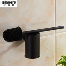 Американский стиль, аксессуары для ванной комнаты, настенный черный бронзовый держатель для туалетной щетки 844