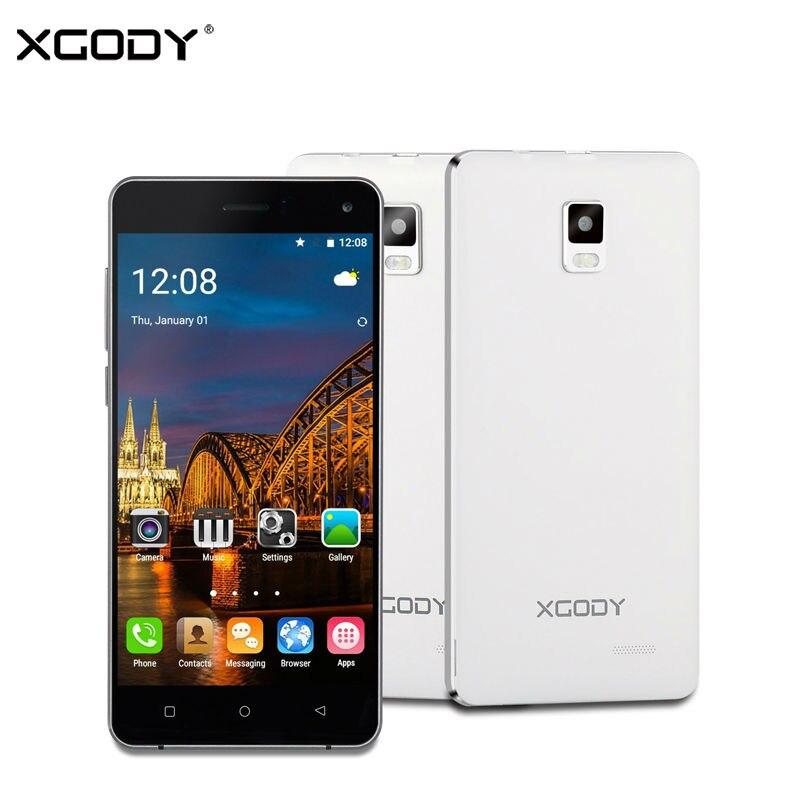 XGODY X12 5.0 Inch Smartphone Android 5.1 Quad Core 2GB RAM 16GB ROM Dual SIM Mobile Phone 8MP WiFi GPS 3G Unlocked Cell Phones