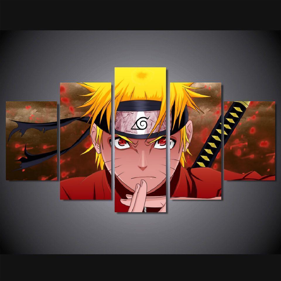 Aliexpress.com : Buy 5 Panels Wall Art Anime Naruto ...