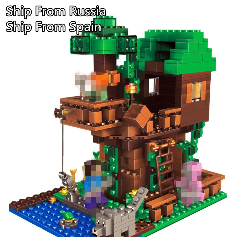 In Stock Mailackers Legoing Minecraft Tree House Building