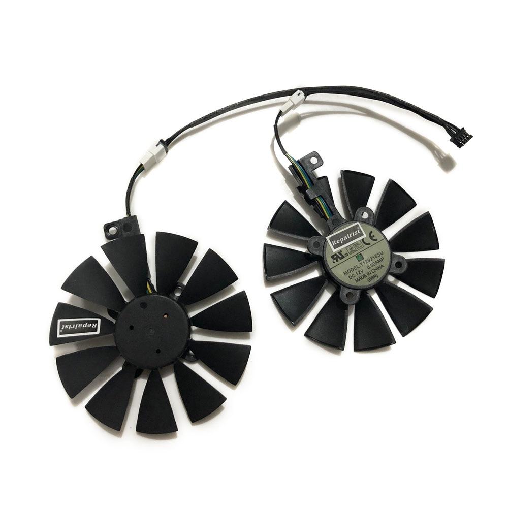 2 unids/set T129215SU GTX 1060 GTX 1070 DUAL ventilador para GPU GeForce ASUS EX-GTX1060 EX-GTX1070 vídeo tarjeta gráfica