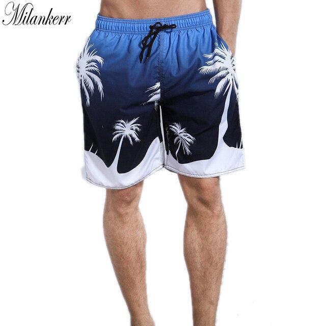 6958c0dc5 Milankerr Original Marca Mens Calções de Surf Praia Forro Board Shorts  Listrado Quick Dry Swim Trunks