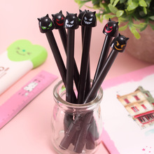 48 Pcs random Gel Pens Cartoon Cute Devil Black Colored Kawaii Gift Gel-ink for Writing Stationery Office Supplies
