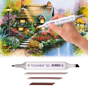 Image 5 - Artist Permanent Sketch Anime Skin Marker Pen Set for Skin Tone Pens TouchNew 24 Color Dual Tip Twin Alcohol Based Marker Set