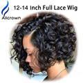 Brazilian Glueless Full Lace Wigs Curly Human Hair Lace Front Wig Full Lace Brazilian Virgin Wigs With Baby Hair Bleached Knots
