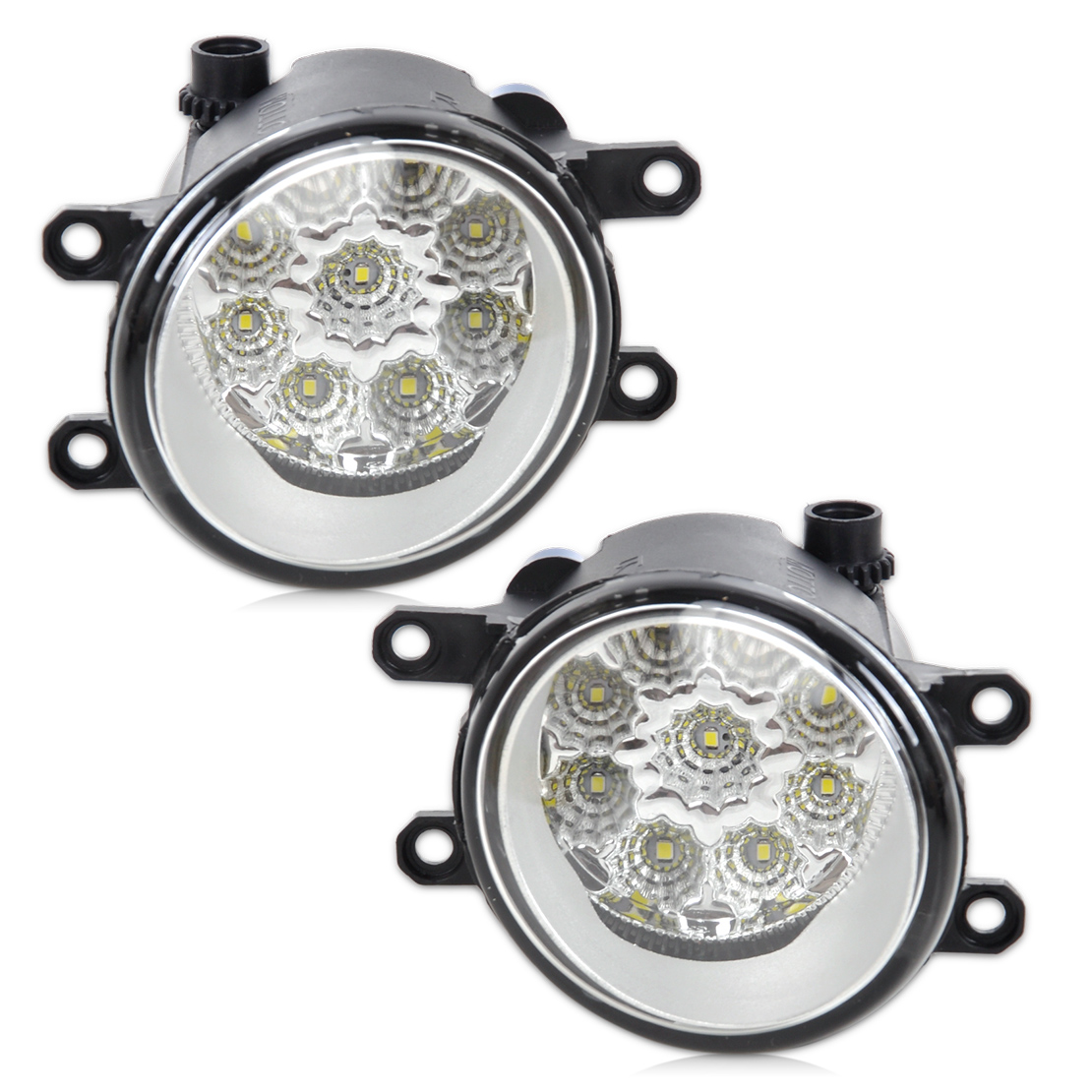 beler 2Pcs Right/Left Fog Light Lamp 55W 9-LED DRL Daytime Running Lights 81210-06050 for Toyota Camry Corolla RAV 4 Lexus cawanerl 2 pieces car styling left right fog light led drl daytime running lamp white 12v for toyota camry 2006 2012
