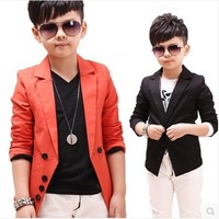 2015 New Children S Spring Casual Suits Boys Jackets Wholesale Korean Style Long Sleeve Blazers C189
