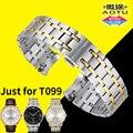 Ремешок для часов 21 ММ T099 Ремешок Прочный Твердая Нержавеющая Сталь 316L Ремешки для Tissot T-Classic T099 CHEMIN DES ТУРЕЛЬ