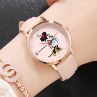 casual woman clocks Disney brand ladies wristwatches Mickey mouse genuine leather womens watches waterproof Citizen movement