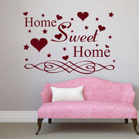 Wall Decals Quotes Home Sweet Home Heart Decal Living Room Vinyl Decor Art