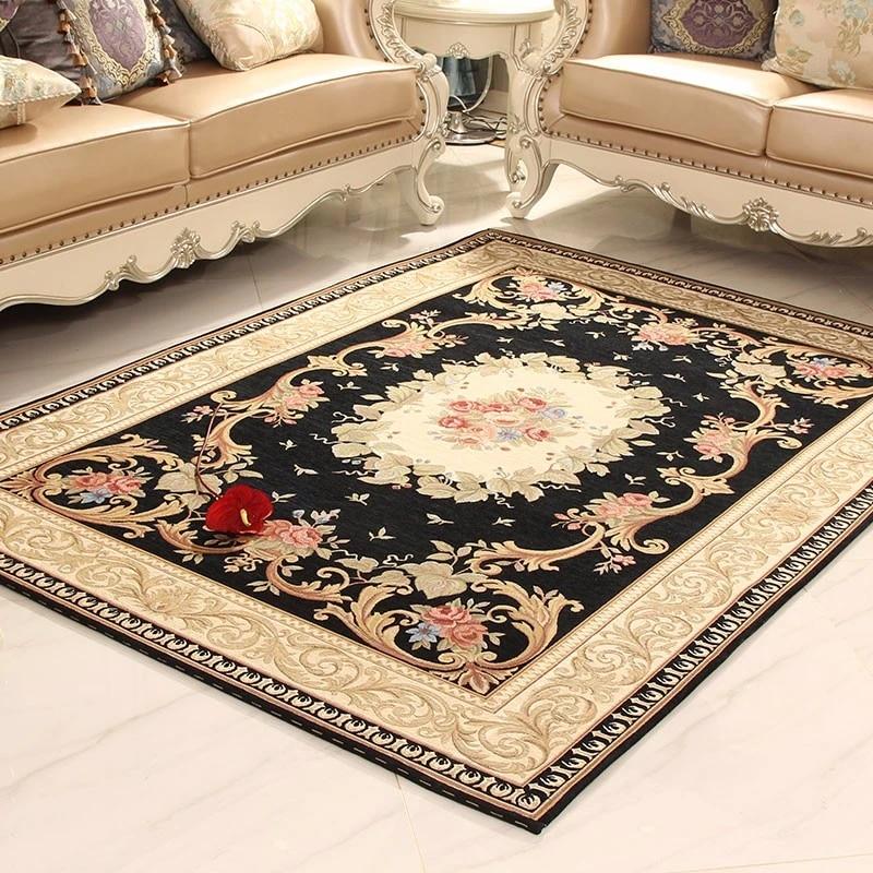 tapis moderne absorbant et antiderapant de style europeen et ameircan motif floral moderne pour salon chambre a coucher