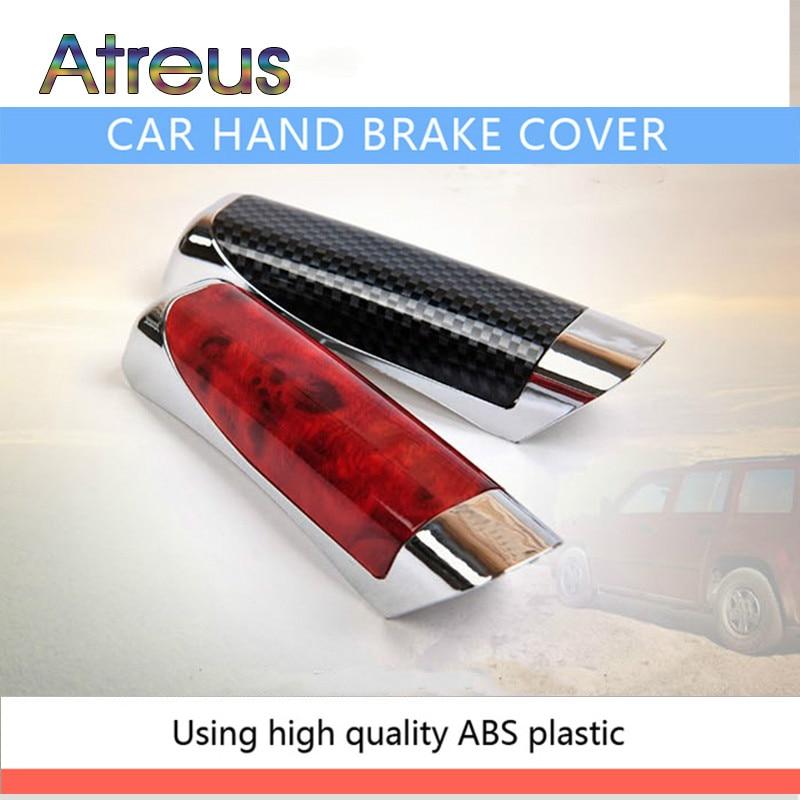 Atreus Car Handbrake Protector Cover Decoration For Citroen C4 C5 Hyundai Solaris I30 VW Polo T5 Ford Fiesta Fusion Mustang Opel