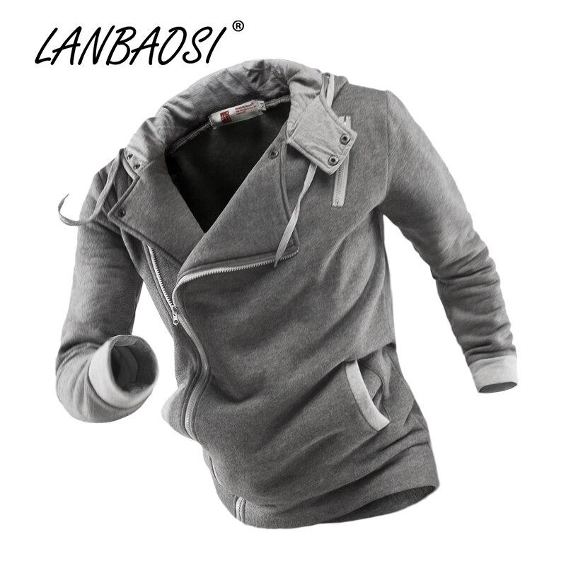 Moda primavera Assimetria Projeto Zip Up Hoodies para Homens de Algodão de Manga  Longa Casaco de Moletom Com Capuz Outwear Jaquetas de Jovens Rapazes 5e94827e0c957