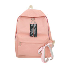 6a2f232ca332 2018 Canvas Plain Japan Style Minimalism Best Backpack For Adolescent Girl  Female New Travel Leisure Women Backpack Shoulder Bag