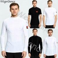 Modern Dance T Shirt Long Sleeve Ballroom Dance Waltz shirt men freeshipping