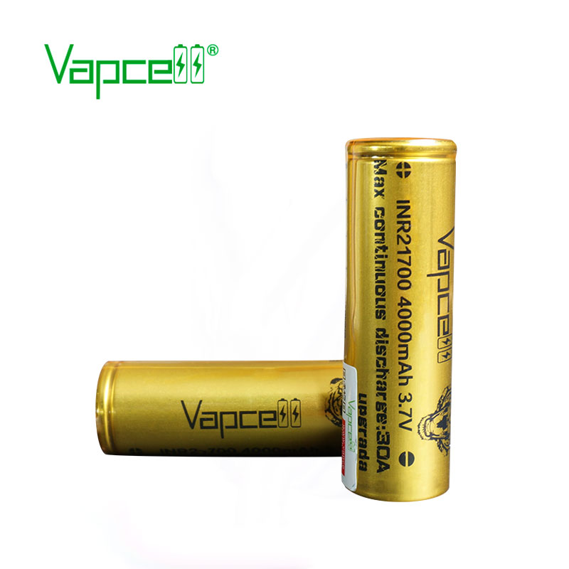 Image 2 - 2pcs VAPCELL INR21700 21700 battery 4000mAh rechargeable battery lithium battery 30A Upgrade electric tool smoke mod BATTERYRechargeable Batteries   -
