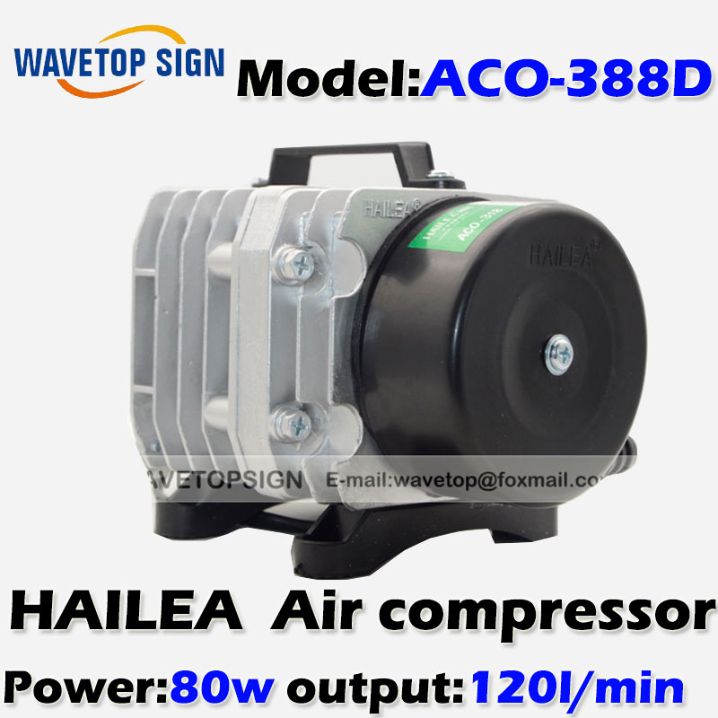 80W Air Compressor Electrical Magnetic Air Pump for CO2 Laser Engraving Cutting Machine ACO-388D 13mm male thread pressure relief valve for air compressor