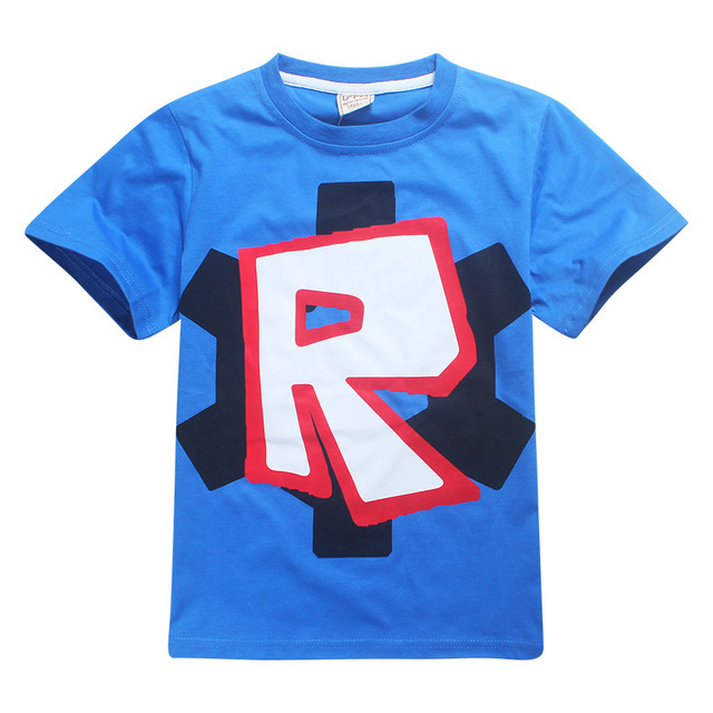 Cute T Boys Girls T-shirt Baby Clothing Little Boy Girl Summer Shirt Cotton letter R printing Robot Tops Tees Clothes 4-12 years