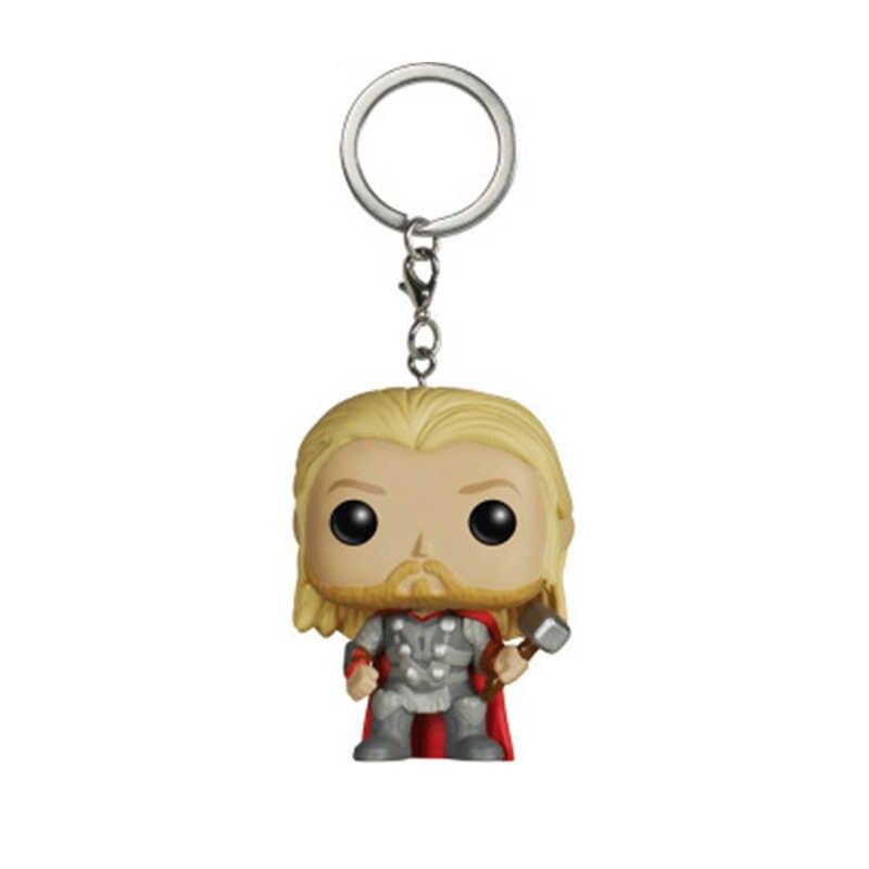 Funko POP Avengers: Endgame Thanos Iron Man Thor Deadpool Spiderman Hulk Gantungan Kunci Mainan untuk Anak-anak Natal Hadiah