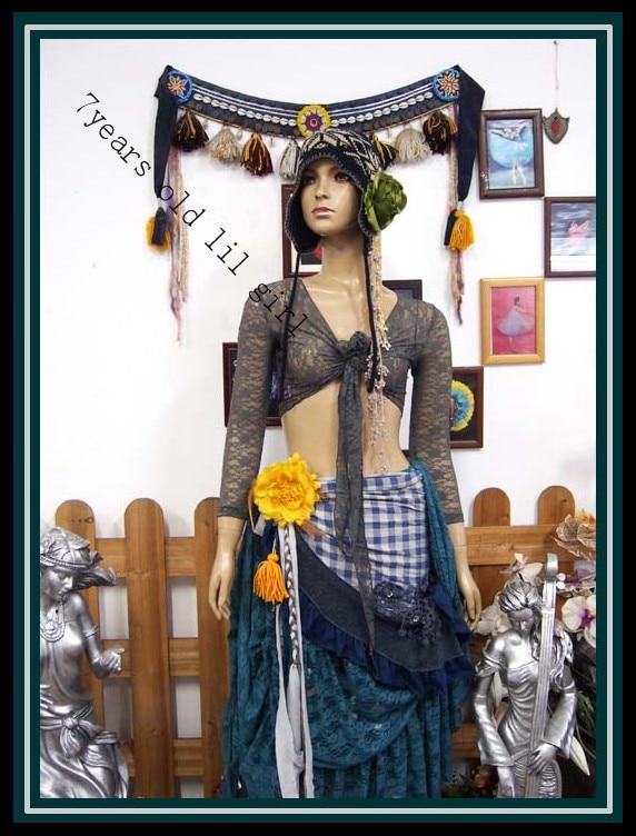 .Lace Belly Dance Top Gypsy Bohemian Top Korea Lace 9 Sleeve Top DM48