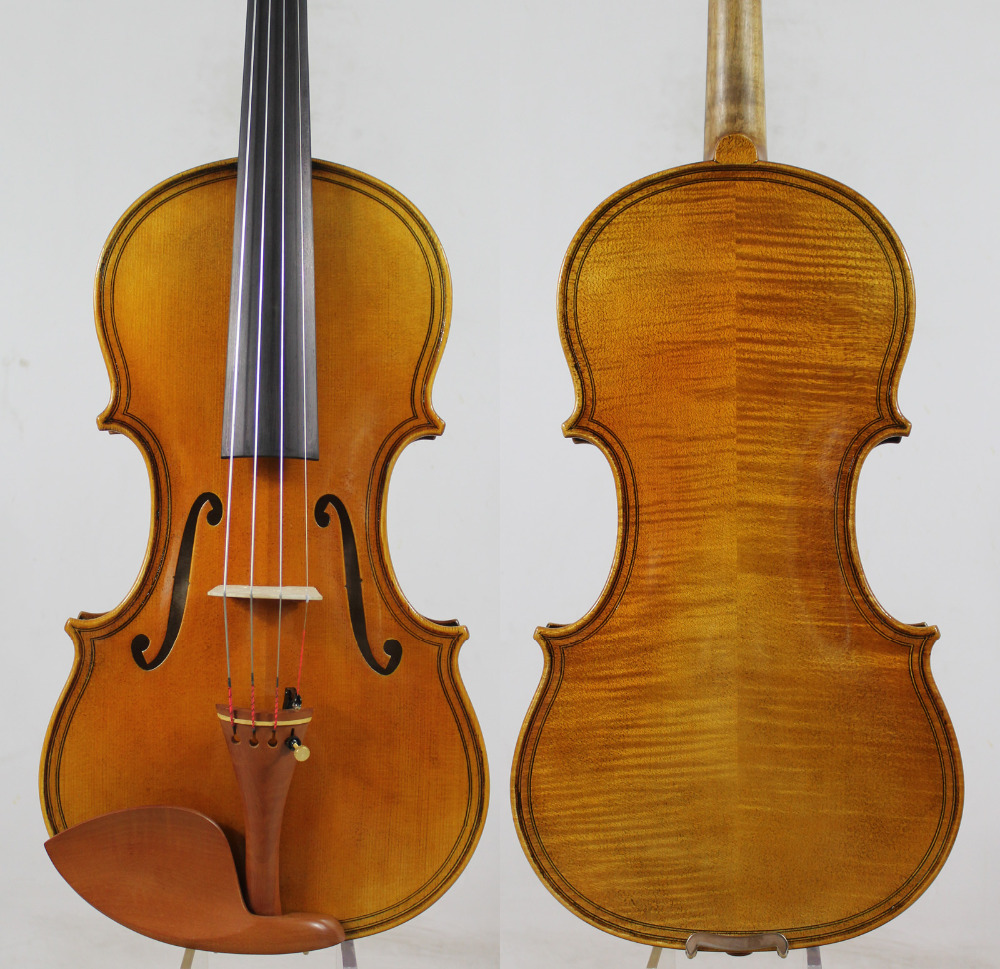 Offerta speciale! Stile Maggini Violino violino Copia! Buona Proiezione, Aperto Tono! + Caso libero di trasporto, Arco, Colofonia, Trasporto Libero! Aubert Ponte!