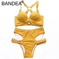 BANDEA Bikini 2017 Swimwear Women Sexy Swimwear High Waist Swimsuit Beachwear Patchwork Bathing Suit Swimwear Bikini