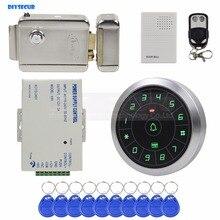 DIYSECUR дверной звонок 125 кГц RFID считыватель Пароль Клавиатура+ Электрический замок+ пульт дистанционного управления дверь контроль доступа Система безопасности комплект