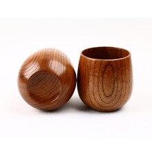 Новая деревянная чашка для Jujube, примитивная деревянная чашка ручной работы, чашка для завтрака, пива, молока, посуда для напитков, чашка для зеленого чая