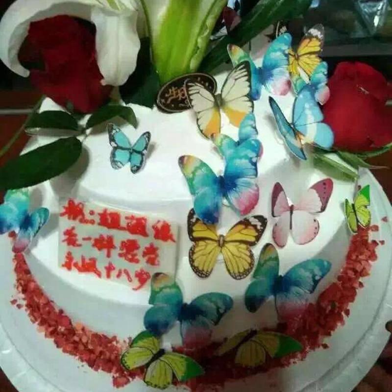 34 Stucke 3d Essbaren Schmetterling Kuchen Dekoration Hochzeit