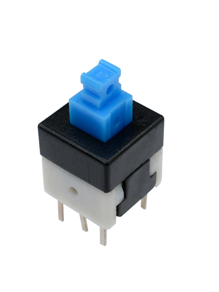 30PCS Cap Self-locking Type Square Button Switch Control 8X8mm Blue  NEW