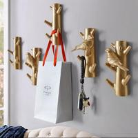 Modern 3D Creative Modern Tree and Bird Resin Wall Stickers Perspective resin wall hooks for living room Wall hanging