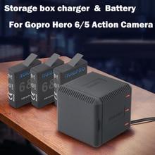 Hero7 Hero 5 Battery Storage box Charger bateria AHDBT-501 battery for GoPro Hero5 hero6 Black Go Pro Hero 7 Camera Accessories go pro hero7 hero6 hero5 black dual battery charger for gopro 5 6 7 2pcs rechargeable batteries for sport camera accessories
