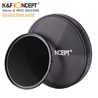 K&F CONCEPT Slim ND1000 52/58/62/67/72/82mm ND filter Lens Multi Coated Glass Neutral Density Filter For Sony Canon Nikon Camera