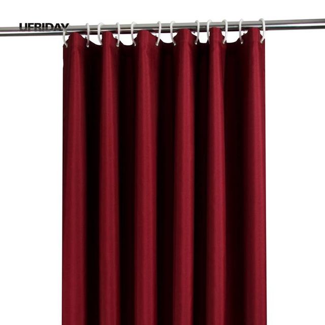 UFRIDAY Pure Color Shower Curtain Hotel Home Waterproof Bath Curtain ...