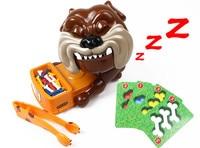 Free Shopping 2016 CAUTION Vicious Dog Funny Gadgets Giochi Bambini Gadget Divertente Springblade Shock