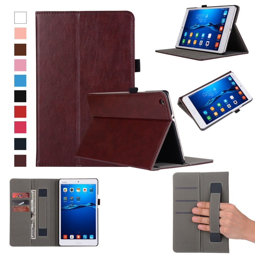 Case For Huawei Mediapad M3 Lite 8.0 CPN-W09 CPN-AL00 Luxury PU Leather Tablet Cover Case Wake Up Sleep Hand Holder Stand Shell