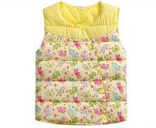 Детская одежда распространять девушки цветок жилет ребенок верхняя одежда все-матч осень зима детская одежда ребенка жилет