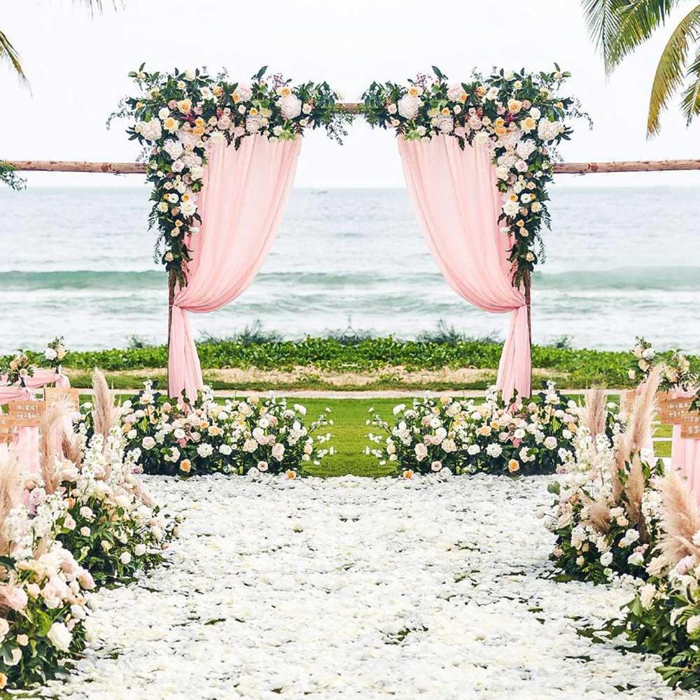 0.8/1.2 m bricolage arc de mariage toile de fond Arrangement de fleurs fête événement décor fleurs artificielles mur soie Rose pivoine plante guirlande