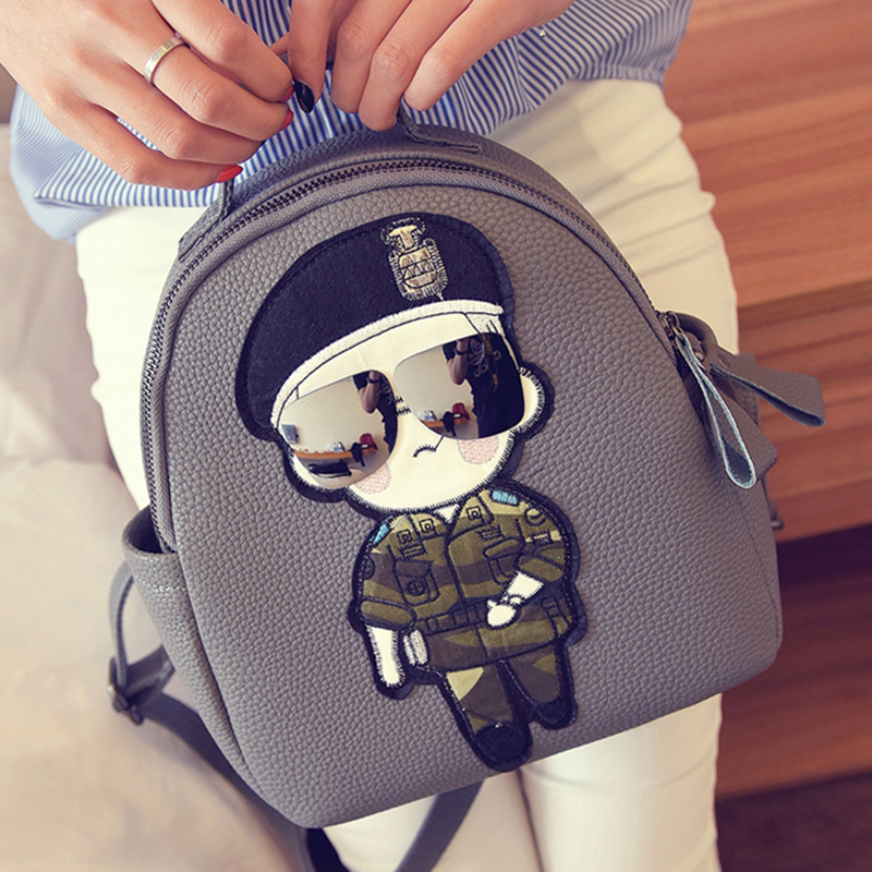 2016 new summer women backpacks for women bags The sun descended from Song Joong Ki cartoon backpack school bag Korean Backpack платье halens цвет синий черный