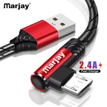 Marjay 2.4A Micro USB Cable Fast Charging Charger Cord For Samsung S7 Xiaomi Redmi Note 5 Tablet Android Phone Microusb Cable(China)