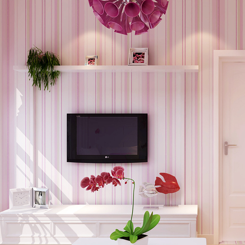Stripe Non Woven Wallpaper Roll Home Decor Wall Paper TV Backgroud kids Bedroom papel de parede Mural Wallpaper 10M beibehang non woven pink love printed wallpaper roll striped design wall paper for kid room girls minimalist home decoration