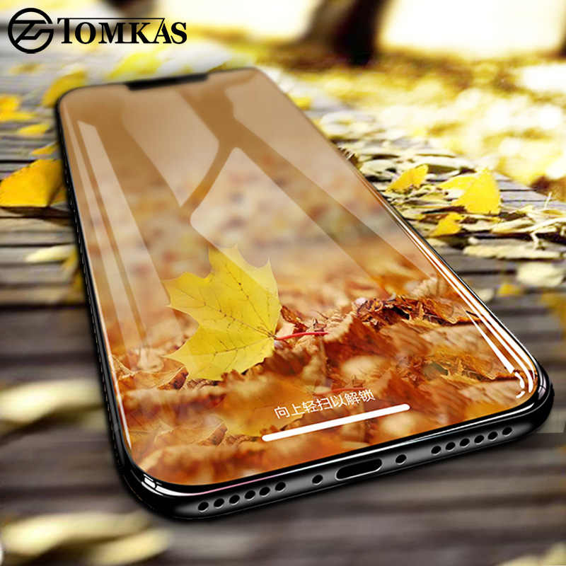 TOMKAS Protective Glass For iPhone X 10 Glass Screen Protector 5D Edge Premium For iPhone 6 6S 7 8 Plus Protective Glass Film