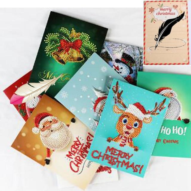 kerstkaarten diamond painting 2019 christmas 5d card festive birthday new year wishes card creative daimond painting