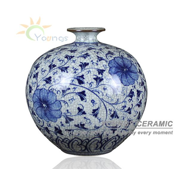 218 & US $43.76 |Home decoration and gift using unique Crackle chinese blue and white ceramic porcelain flower vases-in Vases from Home \u0026 Garden on ...