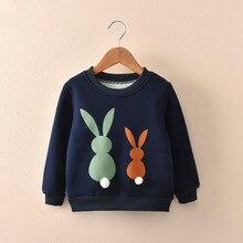 Godier Baby Winter Thick Sweatshirts Boys Girls Hoodies Clothes Children Toddler Casual Sweater Kids Rabbit Velvet Tops Costume