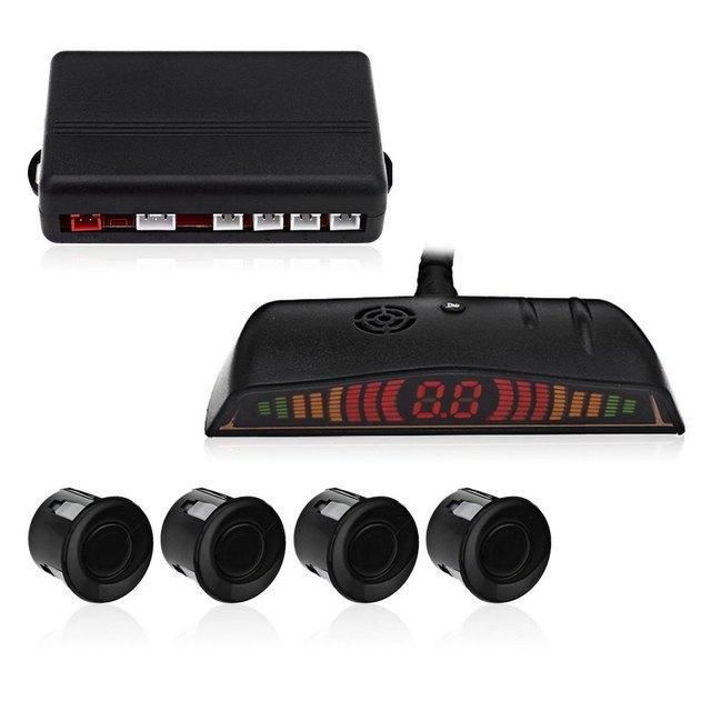 New Car Auto Parking Sensors LED Display 4 Parking Sensors Reverse Backup Radar System Vehicle Buzzing Sound Warning