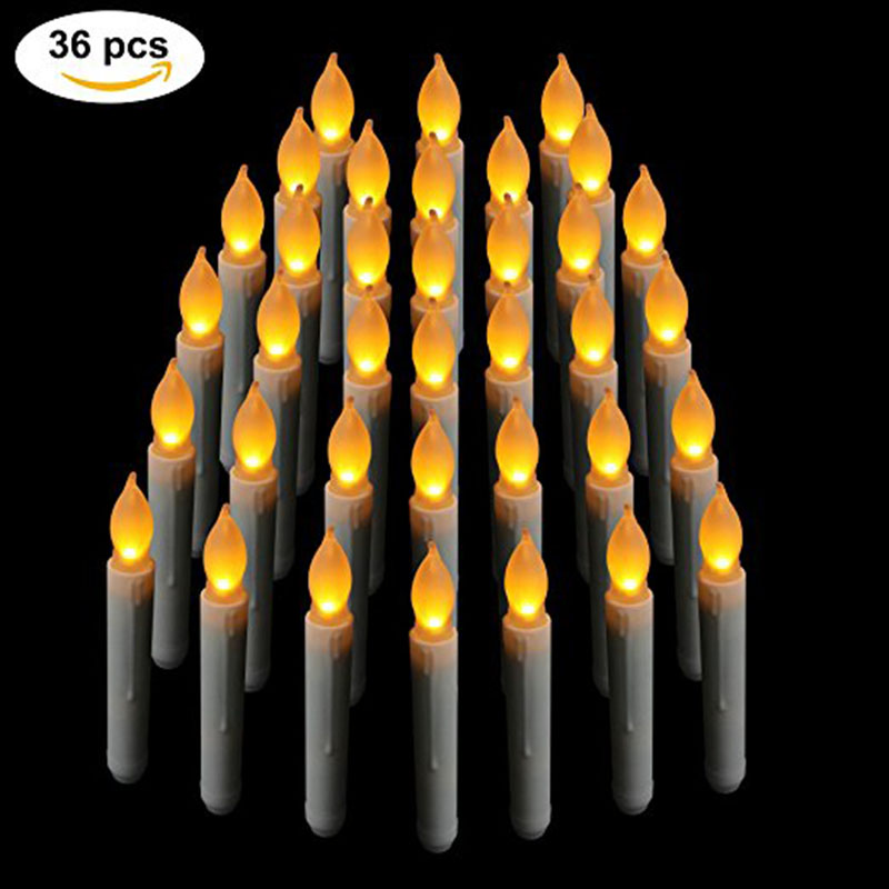 BOX of 36 Battery Operated LED Candles / Flickering Light Bulbs! (36 PCS)BOX of 36 Battery Operated LED Candles / Flickering Light Bulbs! (36 PCS)